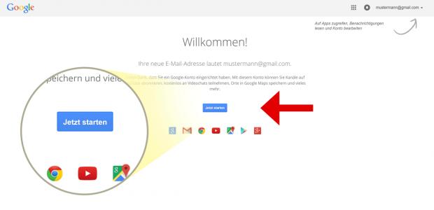 Sie sind in Ihrem persönlichen Google-Konto angemeldet? Sehr gut, besuchen Sie nun die Google MyBusiness Website